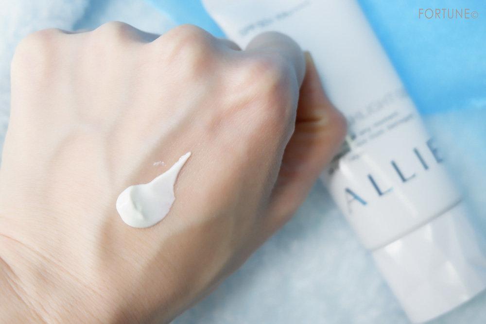 カネボウ化粧品 ALLIE(アリィー)「アリィー エクストラUV ハイライトジェル」テクスチャー