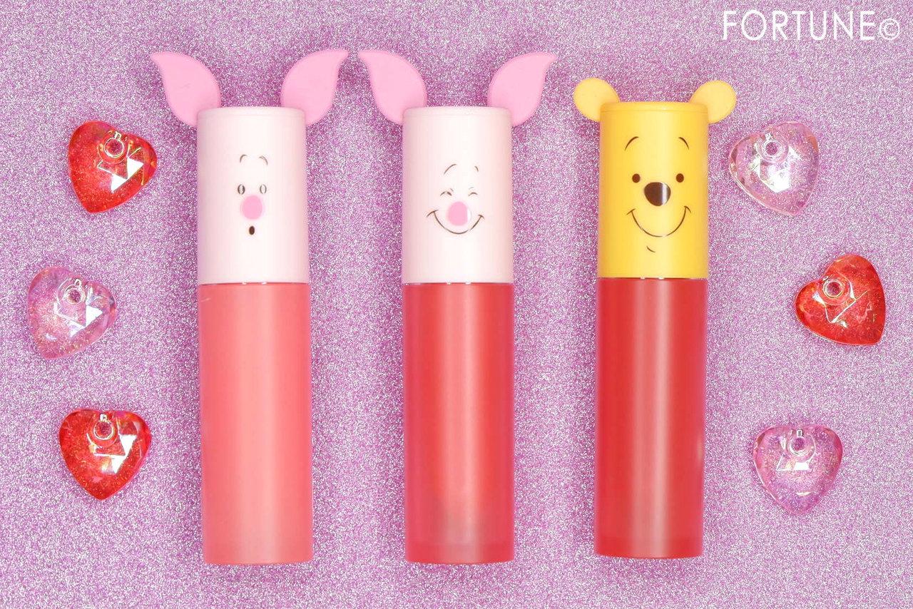 エチュードハウス『Happy With Piglet』カラーインリキッドリップエアームース