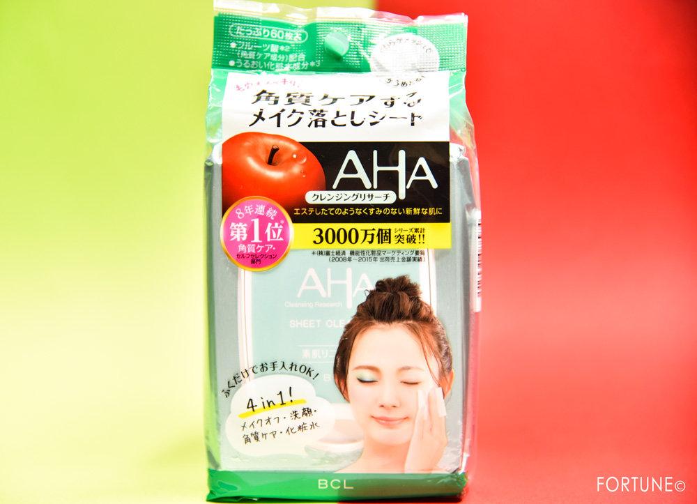 BCL・AHA クレンジングリサーチ シートクレンジング<ふき取り用クレンジング・化粧水>