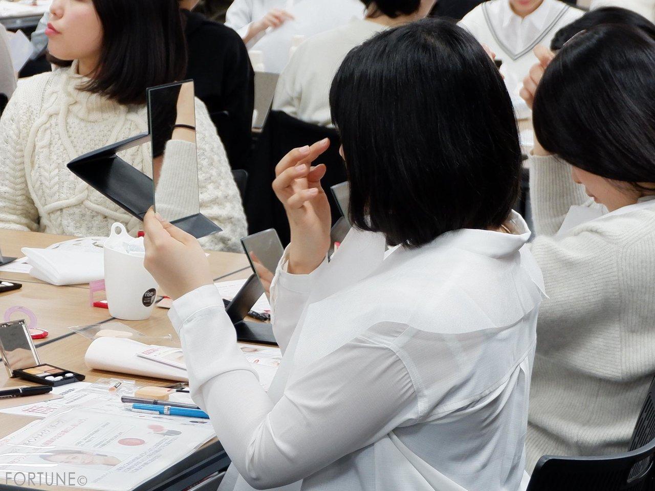 資生堂「就活前夜祭」 美容セミナー