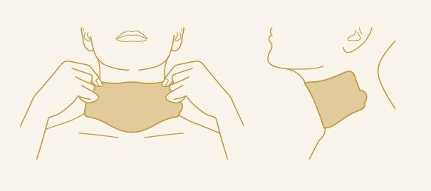KAMI-WAZA ネックマスク 貼り方 スキンケア