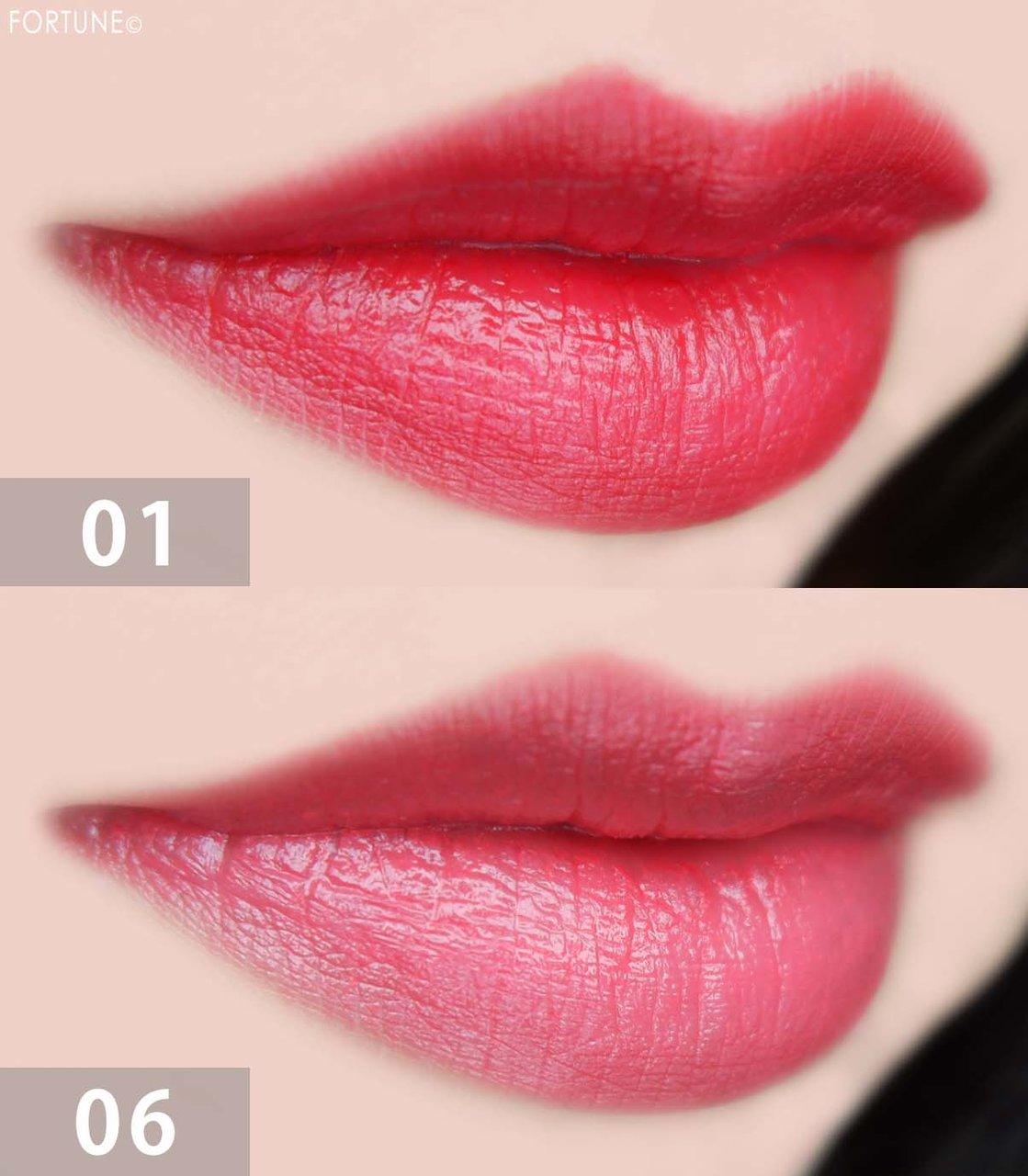 RMKリップコレクション『Color Summer Kiss』 「リップスティック コンフォート マットフィット」「リップスティック コンフォート ブライトリッチ」 使用感