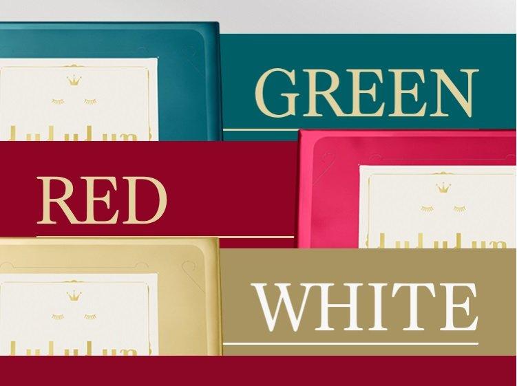 ルルルン プレシャス GREEN RED WHITE グリーン レッド ホワイト