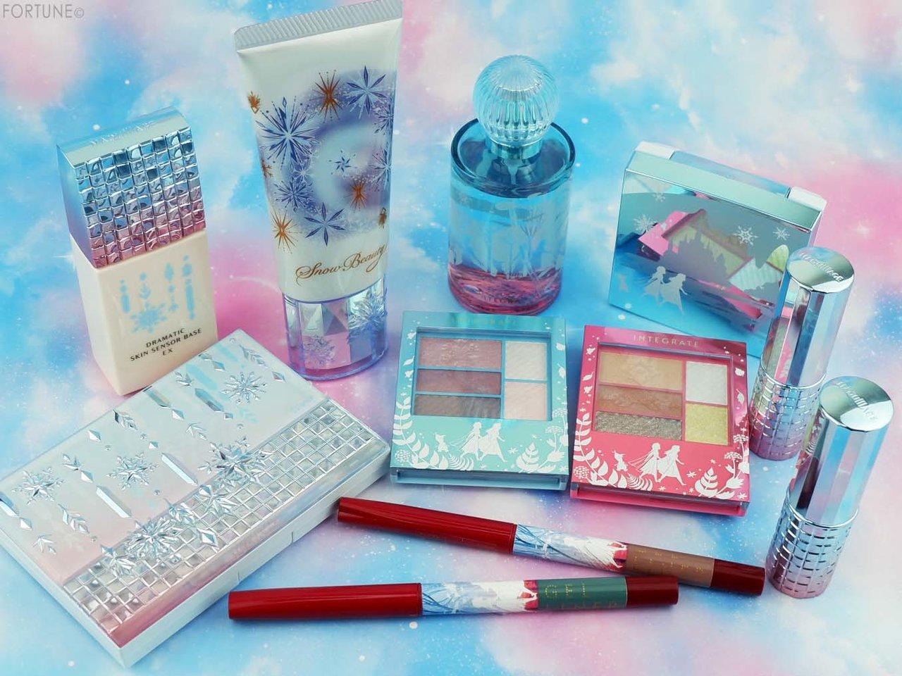 画像:資生堂「アナと雪の女王2」限定デザイン商品