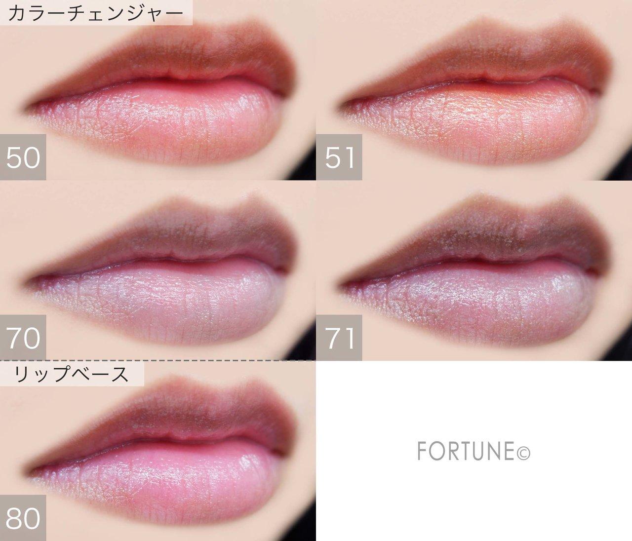 画像:Fujiko(フジコ)miniシリーズ「ミニウォータリールージュ」カラーチェンジャー&リップベース 使用感