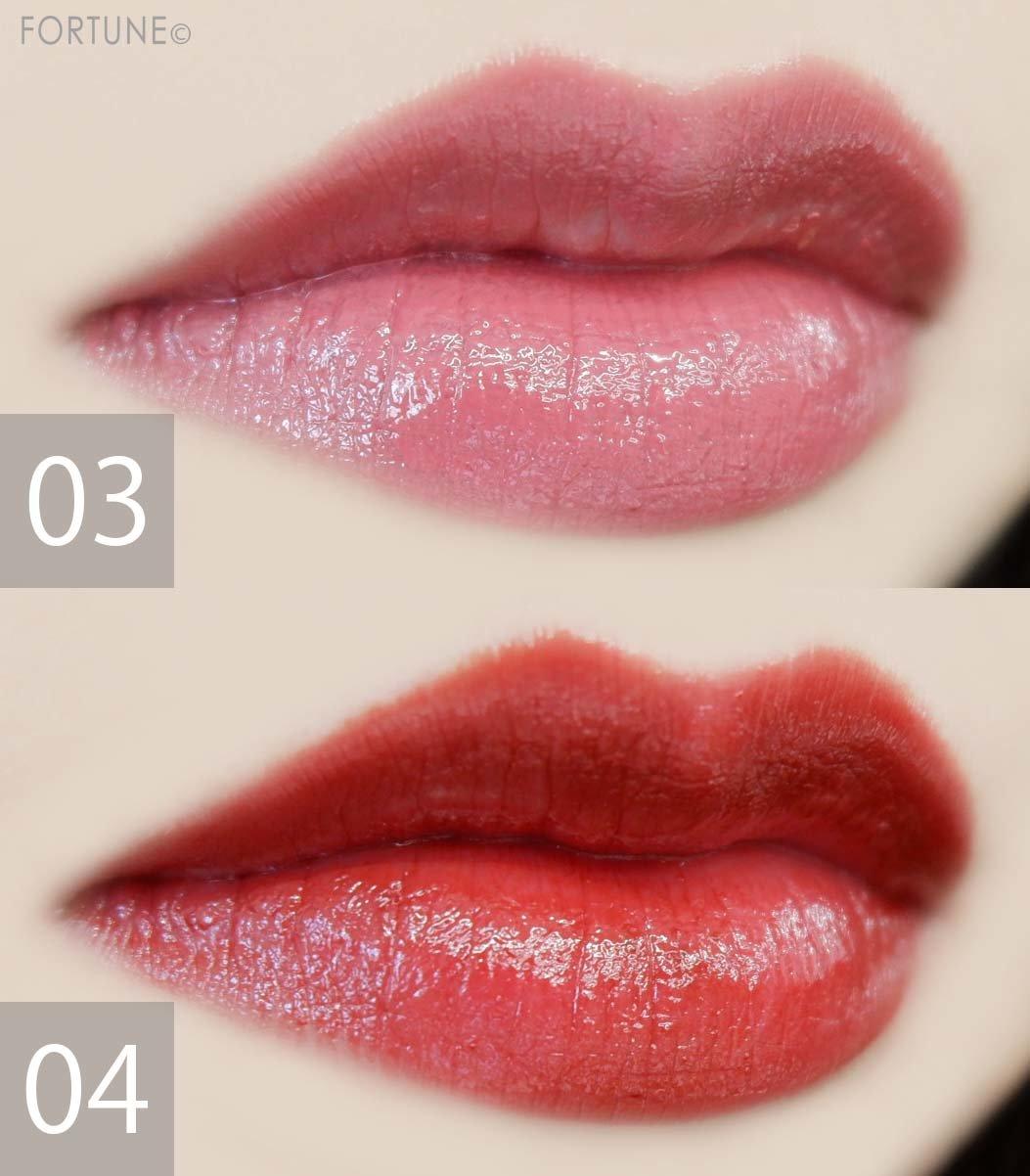 画像:kiss(キス)「キス ヴェールリッチルージュ グロウX」バレンタイン限定カラー 使用感