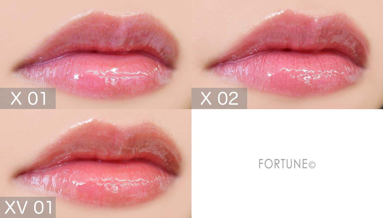 画像:kiss(キス)「ブルーミングオイルグロス」限定色 使用感