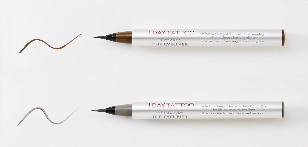 K-パレット 1DAY TATTOO プロキャスト ザ・アイライナー 限定色「クルミ」「ラテグレージュ」
