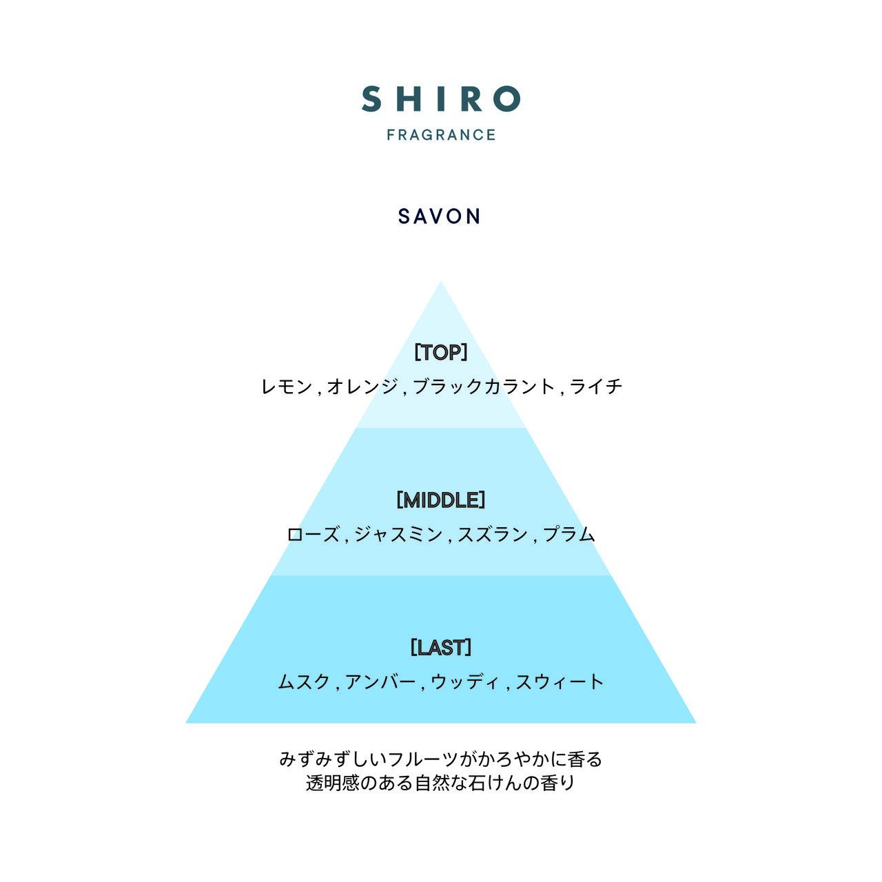 SHIRO FRAGRANCE SERIES「バスオイル」サボン