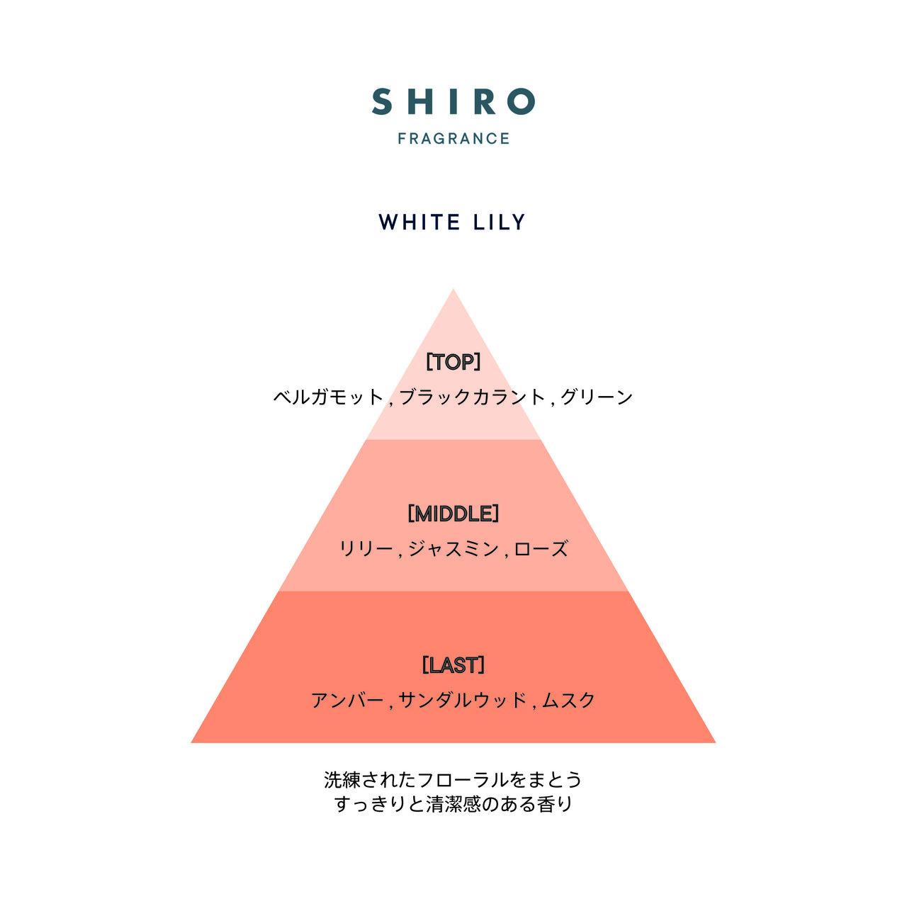 SHIRO FRAGRANCE SERIES「バスオイル」ホワイトリリー