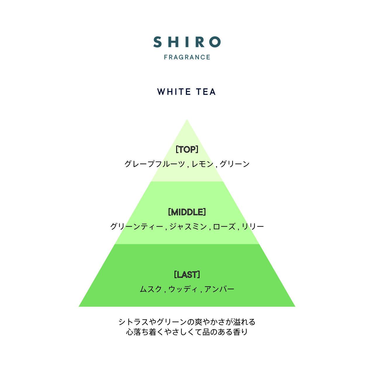 SHIRO FRAGRANCE SERIES「バスオイル」ホワイトティー