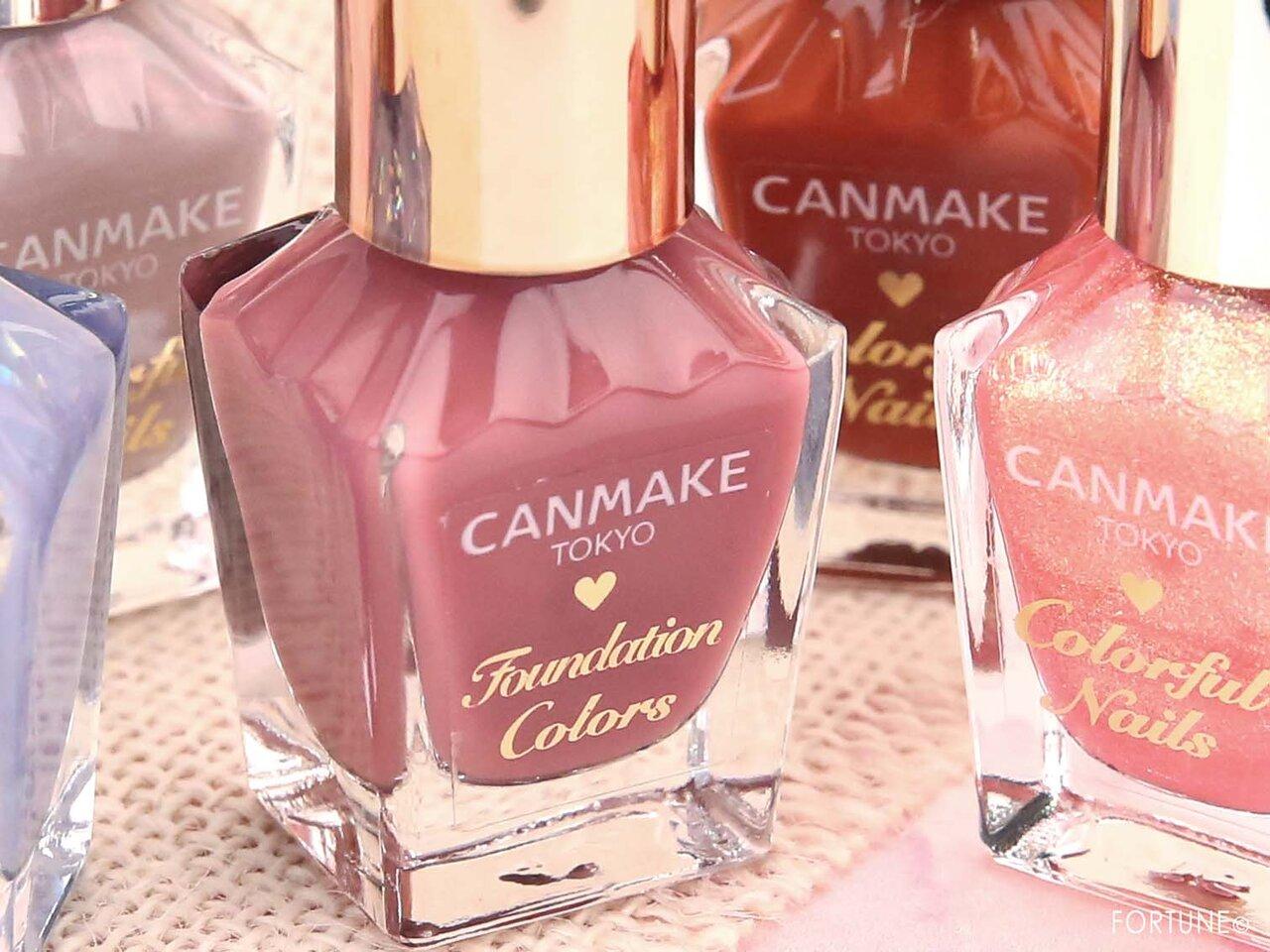 画像:CANMAKE(キャンメイク)「ファンデーションカラーズ」「カラフルネイルズ」