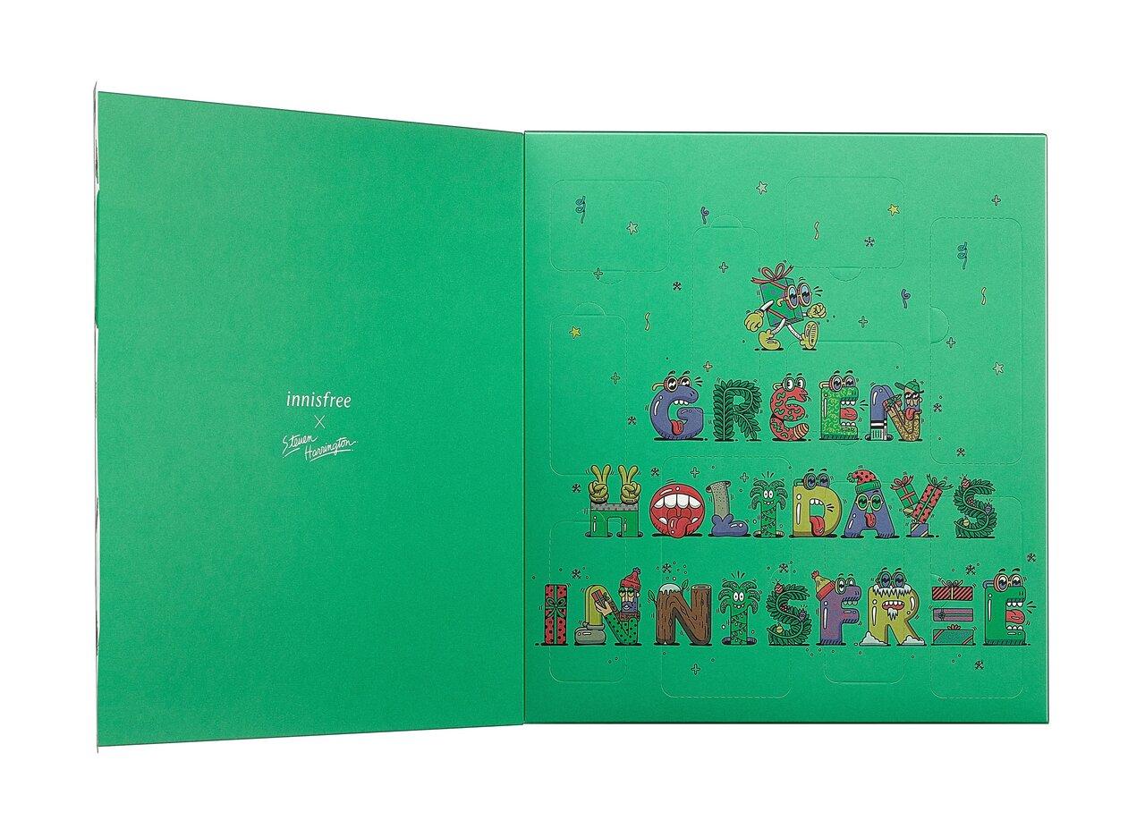 <2020クリスマスコフレ>innisfree(イニスフリー) 2020新作 グリーンホリデー「10デイズ オブ ホリデーチア ミニ セット」