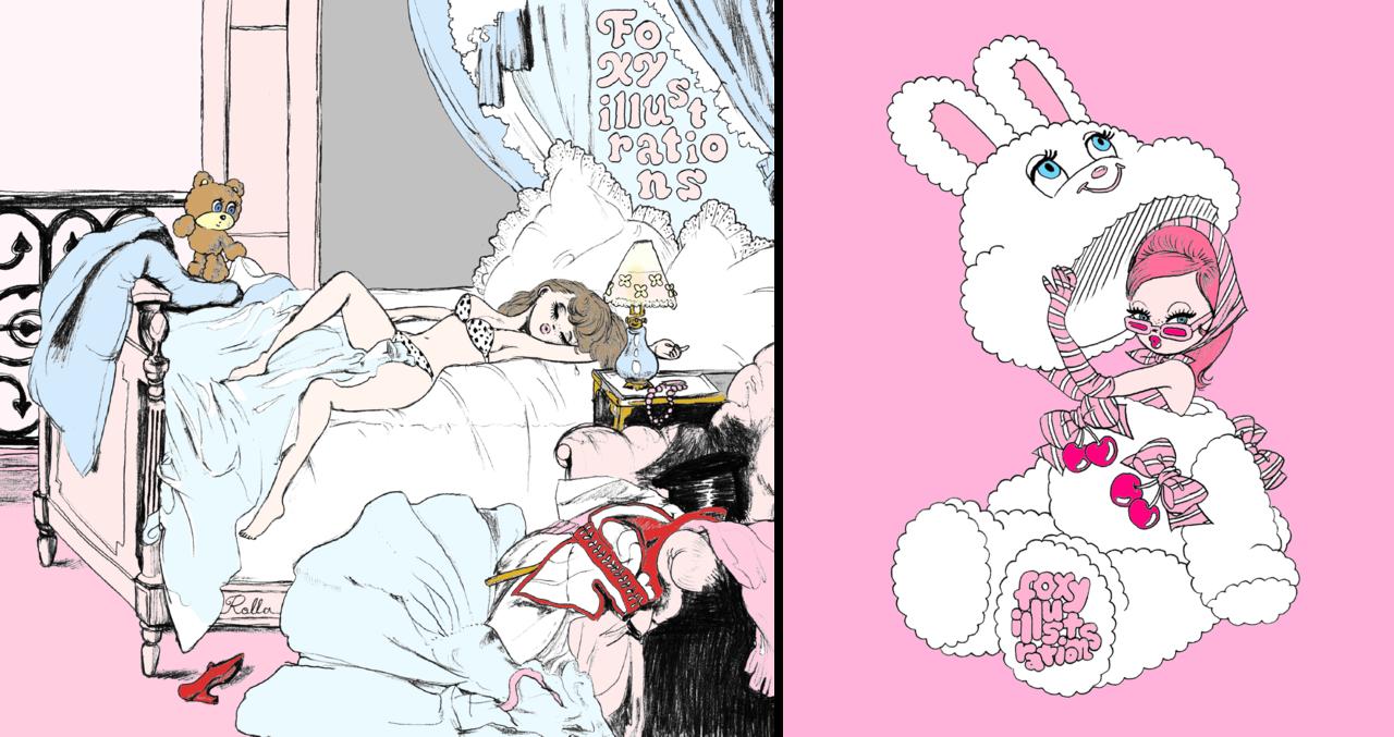 ラブ・ライナー×サンリオ×フォクシーイラストレーションズ 2020年秋冬限定・新作コスメ『ラブ・ライナー リキッドアイライナーR3「サンリオキャラクターズ×foxy illustrations」限定デザイン』