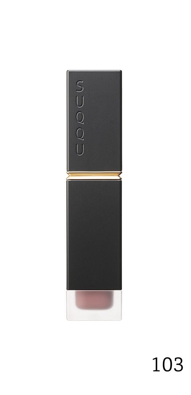 SUQQU(スック) UK ホリデー コレクション 2020「SUQQU コンフォート リップ フルイド フォグ」限定色 103 桃留 -MOMODOME(ダスティピンク)