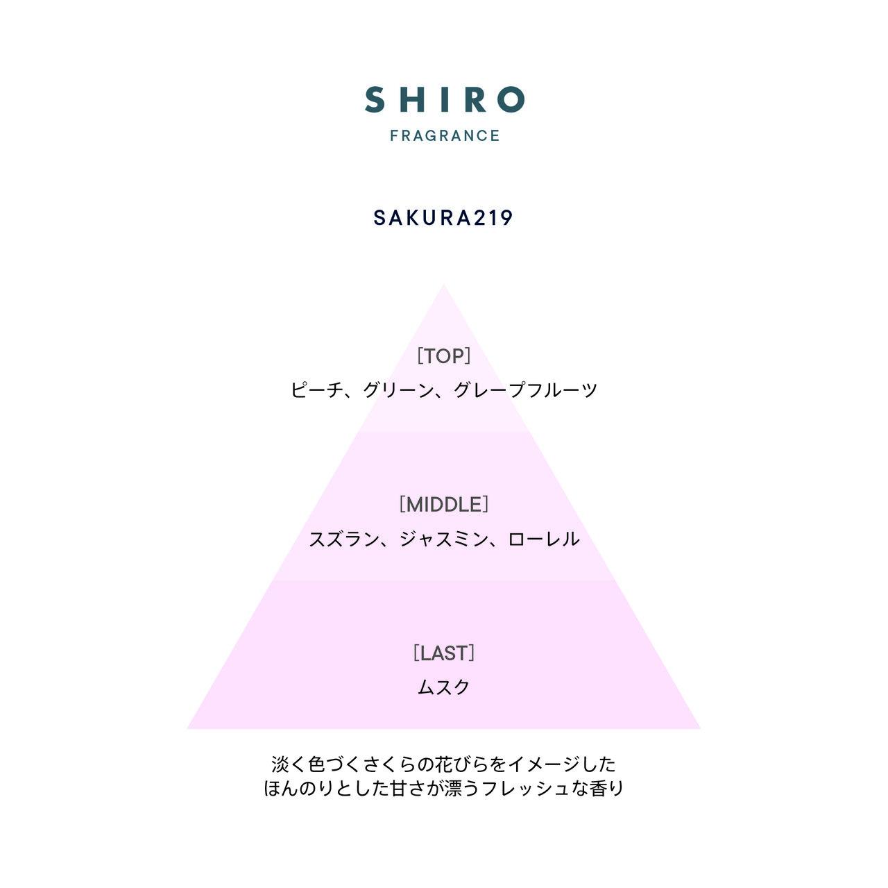 SHIRO(シロ) 『さくら219 』香調