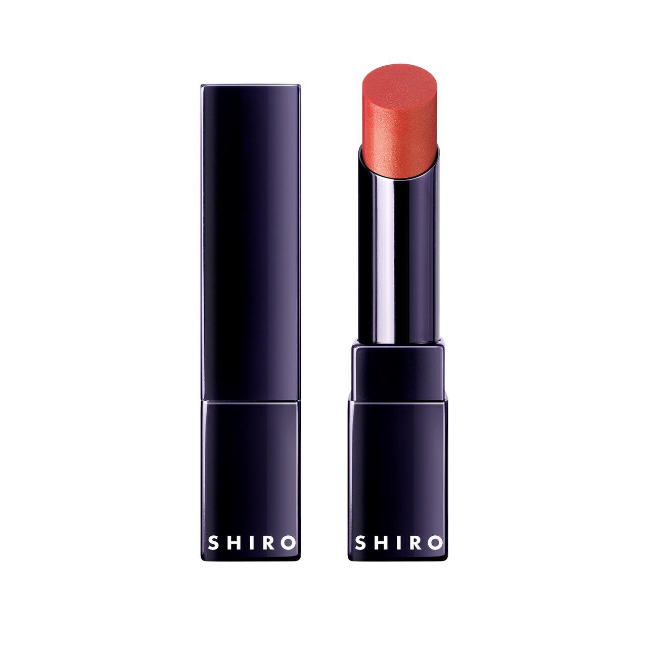SHIRO(シロ) メイクアップコレクション2021SS/2021春夏新作コスメ「ジンジャーリップカラープライマー」限定色 1A02 シャインスカーレット