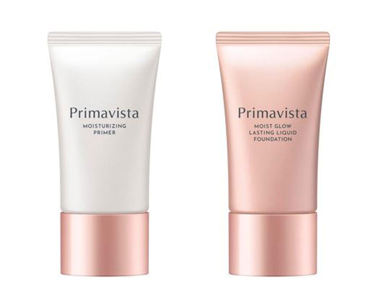 Primavista(プリマヴィスタ)『プリマヴィスタ スキンプロテクトベース<乾燥くずれ防止>』『プリマヴィスタ モイストグロウ ラスティング リキッド』