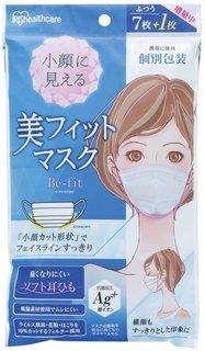 Amazon.co.jp:アイリスオーヤマ マスク 美フィットマスク プリーツ ふつう 7枚+1枚 個包装 H-PK-BF8M:ドラッグストア (210803)