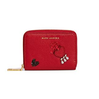 sequin hand to heart zip card case (215225)
