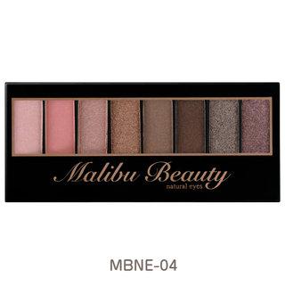 【楽天市場】Malibu Beauty マリブビューティ ナチュラルアイズ アイシャドウ パレット ブラウン【8色パレット/チップ入り/全4色】:MALIBU COSME SHOP (280510)
