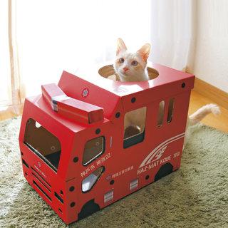 神戸市消防局とコラボ 猫さんのつめとぎ付き消防車 「HAZ-MAT KOBE 119」 フェリシモ (362893)