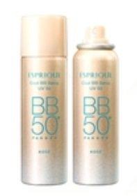 コーセー エスプリーク(ESPRIQUE) ひんやりタッチ CCスプレー UV 50(くすみカバー/エッセンスファンデーション) 60g <SPF50+/PA++++>ほんのり血色感のある肌色 (370008)