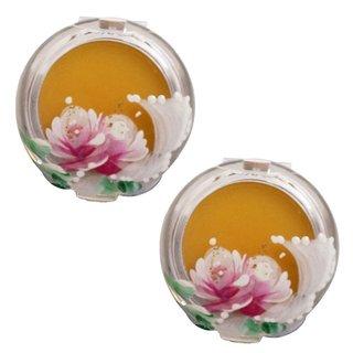 本物のバラの香水 天然香料100% 合成香料無添加 ダマスクローズ (練り香水3g 2個セット) (381813)