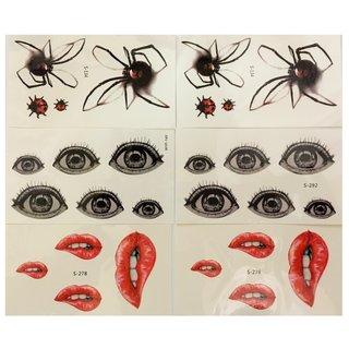 蜘蛛・目・ 唇 3種6枚セット (504409)