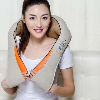 電気マッサージ機   ヒーター搭載 首 肩 腰 背中 FlyCreat (511985)
