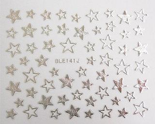 星柄ネイルシール シルバー (518585)