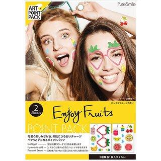 PureSmile(ピュアスマイル)『ART POINT PACK / アートポイントパック(2枚入り)』(ENJOY FRUITS/ミックスフルーツの香り) (523030)