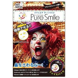 特殊メイクアートマスク クレイジークラウン ピュアスマイル (540234)