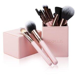 ロマンチックなピンク色 メイクブラシ 15本セット(ピンク色) (544004)