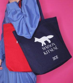 3CE MAISON KITSUNE TOTE BAG #NAVY (547436)