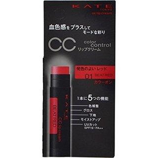 カネボウ ケイト CCリップクリーム SPF19 PA++ 01 発色のよいレッド (556269)