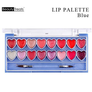 【16色 ハートリップパレット・HEART LIP PALETTE】 BeautyTreats(ビューティートリッツ)  (575293)