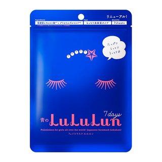 フェイスマスク 青のルルルン 7枚入り(もっちり高保湿タイプ) (585410)