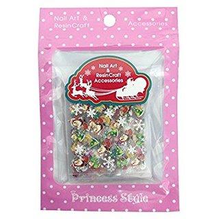 クリスマス ネイルシール 3D サンタ ツリー トナカイ スノーマン 雪の結晶 プレゼント お徳用24種類 (598686)