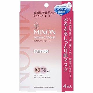 アミノモイスト ぷるぷるしっとり肌マスク 22mL×4枚入   MINON(ミノン) (600728)