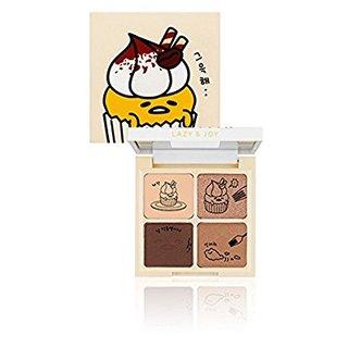HOLIKA HOLIKA ぐでたま LAZY&JOYシリーズ カップケーキ アイシャドウ 2タイプ アイシャドウパレット Cupcake Eye Palette Shadow (02. ティラミス) (609132)