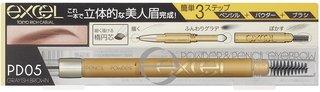 パウダー&ペンシルアイブロウEX PD05 グレイッシュブラウン | excel(エクセル) (767636)