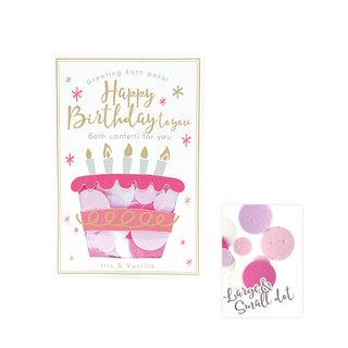 ノルコーポレーショングリーティング バスペタルHappy Birthday to youアイリス&バニラの香り (799125)