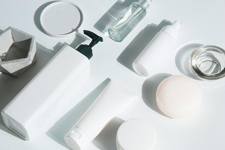 いろいろな種類の洗顔料