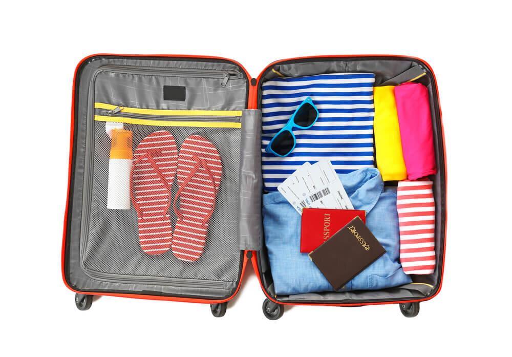 整理されたスーツケース