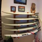 DIY サーフボードラック