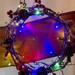 今年は、一味違ったライトアップクリスマスリース!