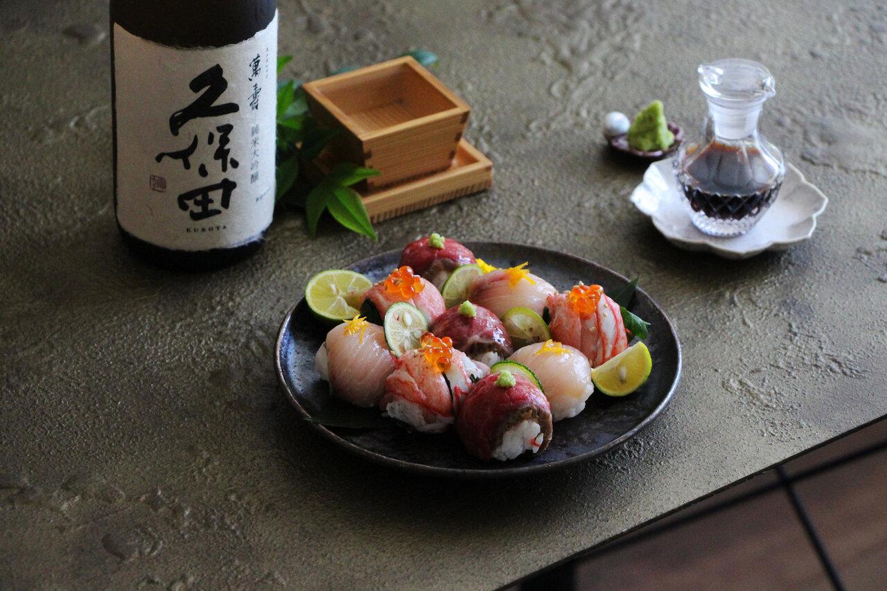 日本酒をもっと楽しむおつまみレシピ|三種のごちそう手まり寿司