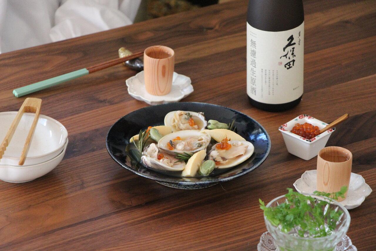 日本酒をもっと楽しむおつまみレシピ|はまぐりとそら豆の香草蒸し