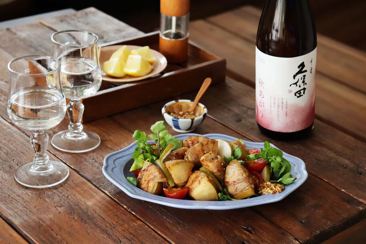 日本酒をもっと楽しむおつまみレシピ|梨の豚バラ巻きソテー